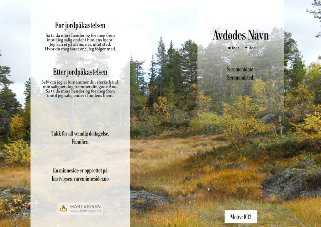 1012 Skog og høst venstre [22261]