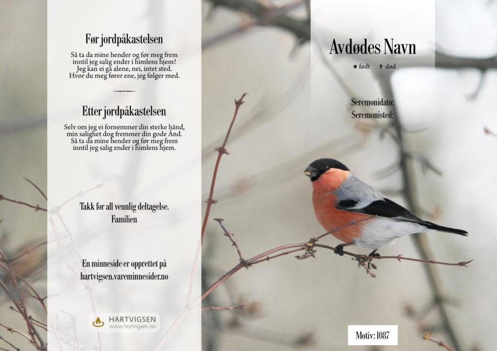 1087 Fugl i vinterlandskap [22275]