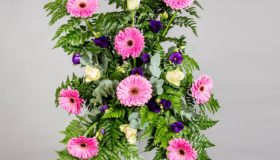 Båredekorasjon rosa,lilla